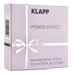 Picture of KLAPP Power Effect Bi-Phase + Retinol 2x1ml